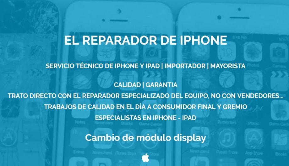 cambio pantalla iphone rosario
